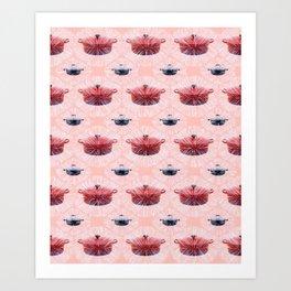 Stew Pot Snowflakes. Art Print