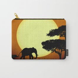 Safari elephants at sunset Carry-All Pouch