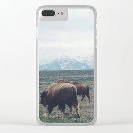 Roaming Buffalo Clear iPhone Case