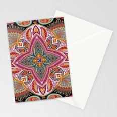 Boho Paisley Floral Pattern Stationery Cards