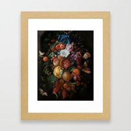 Antique Botanical IV [antique painting remixed] Framed Art Print