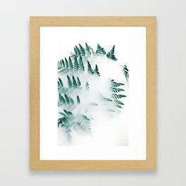 Floral Fading From Fog Framed Art Print