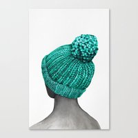 hat Canvas Prints featuring Hat by Nika Akin