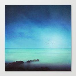Silent Mediterranean Sea Canvas Print