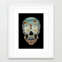 mortal instruments Framed Art Prints featuring Mortal coil by Vin Zzep
