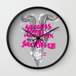 Succsess takes hard work and sacrifice. (6OAT) Wall Clock
