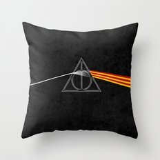 the darkside of the deathly hallows Throw Pillow