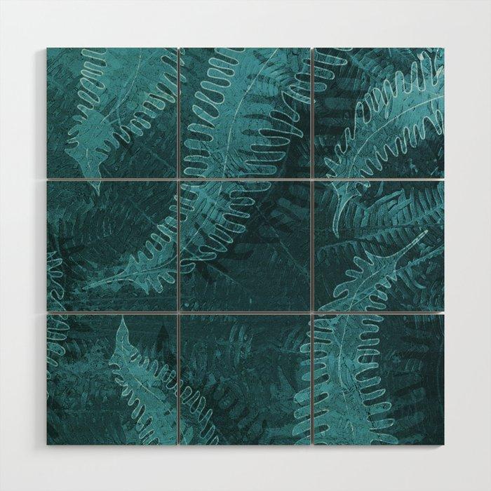 Ferns (light) abstract design Wood Wall Art