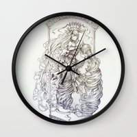 aquarius Wall Clocks featuring Aquarius by clayscence