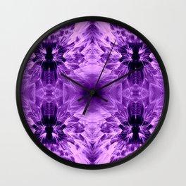 Dandelions Psycapurple Wall Clock