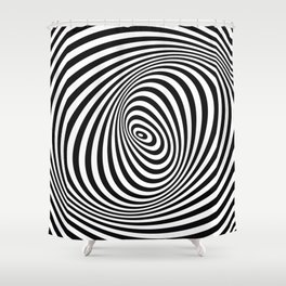 T Shirt Texture Zebra Stripes Printed Tops Tees Graphics Pattern Shower Curtain