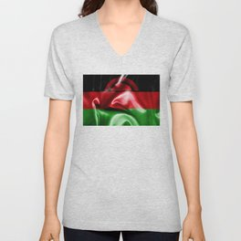 Malawi Flag Unisex V-Neck