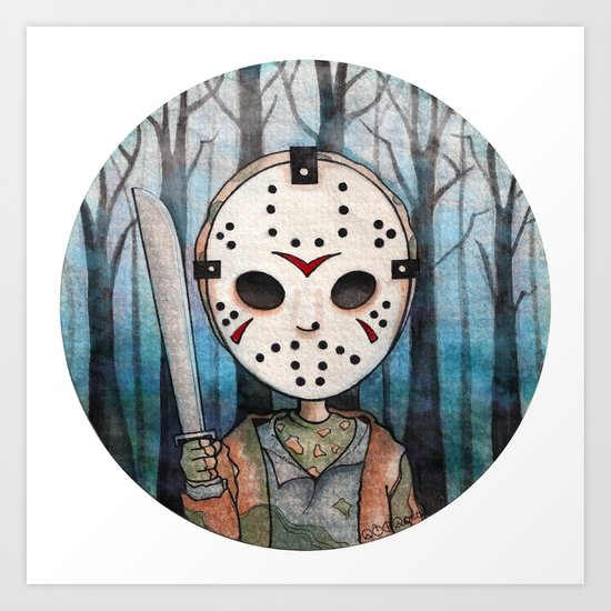 Cute Jason Voorhees Art Print By Ajd Abelita Society6