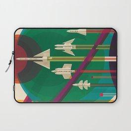 Space Ships Pop Art Vintage Laptop Sleeve