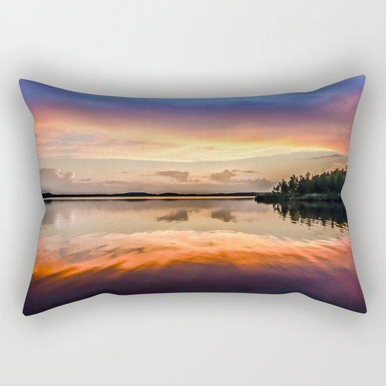 Sunset Symmetry Rectangular Pillow