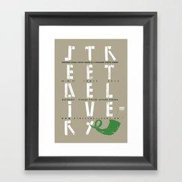Street Delivery Framed Art Print