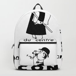 French Political Poster 1953 Backpack