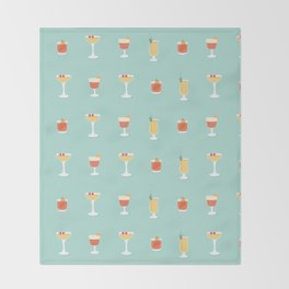 Cocktails Throw Blanket
