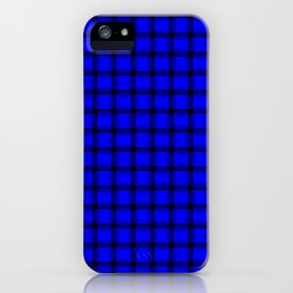 Small Blue Weave iPhone Case