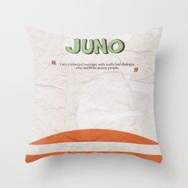 Juno - Alternative Movie Poster, classic movie, funny movie, minimal movie poster Throw Pillow