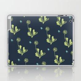 Spider Daisies (green + navy) Laptop & iPad Skin