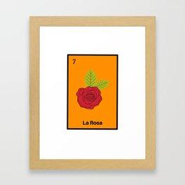 La rosa Mexican Loteria bingo Card Framed Art Print