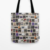gamer Tote Bags featuring Gamer by James Brunner
