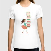 library T-shirts featuring Library Girl by Stephanie Fizer Coleman