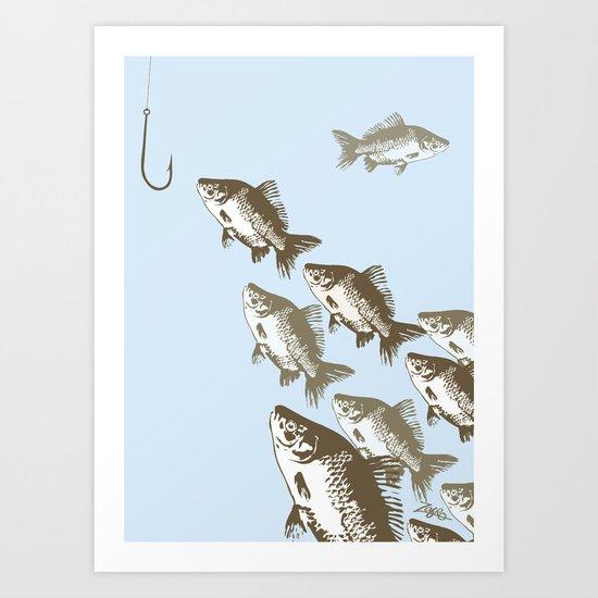 The Smart Fish Art Print