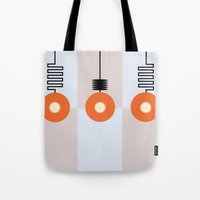 lights Tote Bags featuring Lights by Nope