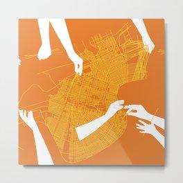 Crescent City Pull Metal Print