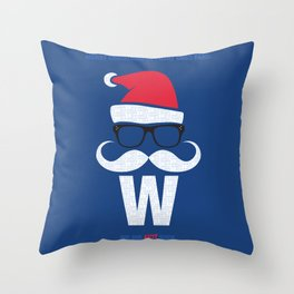 Fly the W Santa Throw Pillow