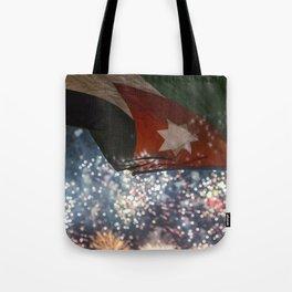Jordan Fireworks Tote Bag
