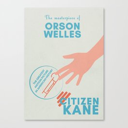 Citizen Kane, minimal movie poster, Orson Welles film, hollywood masterpiece, classic cinema Canvas Print