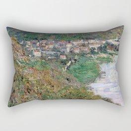 1880-Claude Monet-View of Vétheuil-65 x 81 Rectangular Pillow