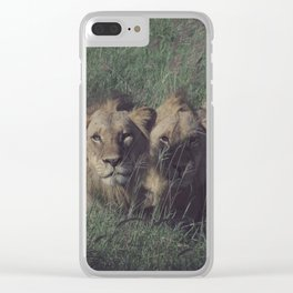 Vintage Africa 12 Clear iPhone Case