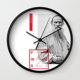 Leo Tolstoy - POWER Wall Clock