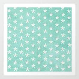 Starfish { Mint Green } Art Print