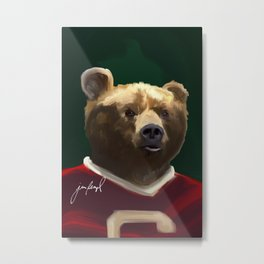 Big Red Bear Portrait Metal Print