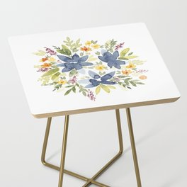 Watercolor Floral Bouquet Side Table
