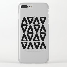Black and White Abstract II Clear iPhone Case