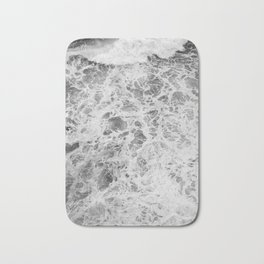 The Waves (Black and White) Bath Mat