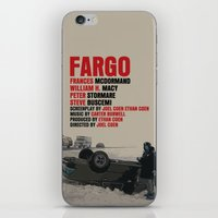 fargo iPhone & iPod Skins featuring Fargo Movie Poster  by FunnyFaceArt
