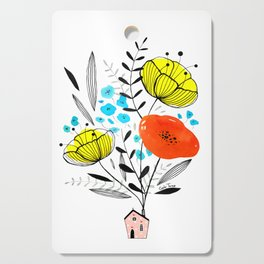 Blooming house Cutting Board