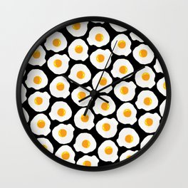 with bread and butter Wall Clock