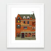 tenenbaums Framed Art Prints featuring The Royal Tenenbaums by Shanti Draws