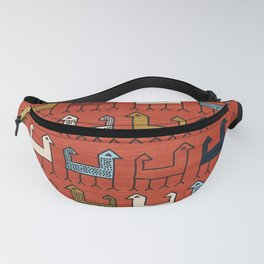 Zagros in Red Fanny Pack