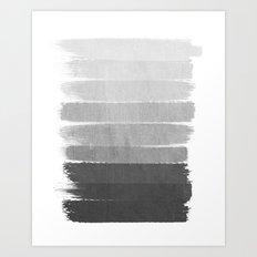 Brushstroke - Ombre Grey, Charcoal, minimal, Monochrome, black and white, trendy,  painterly art  Art Print