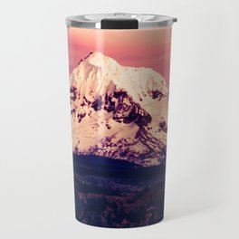 Mt Hood Mountain with Snow Travel Mug