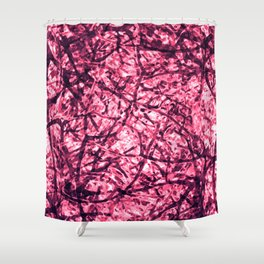 Purple Veins Shower Curtain